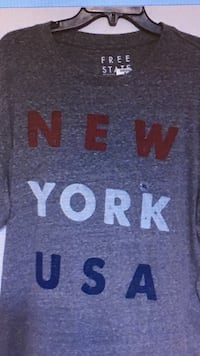 New York gray crew-neck T-shirt Knoxville