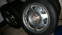chrome 5-spoke car wheel with tire Las Vegas, 89102