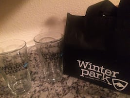 2 beer glasses with logo Winter Park.