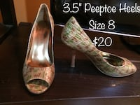 Enzo Angiolini brown/green heels size 8 Calgary, T2J 6C4