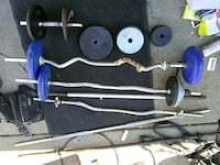 blue and black barbell and dumbbells Dearborn Heights, 48125
