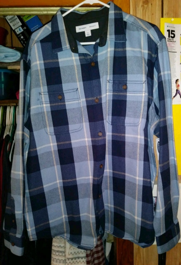 83b60f5745 Used Blue plaid old navy men s shirt for sale in Panama City - letgo