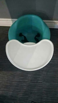 baby's white and green booster seat Edmonton, T5M 2Z7