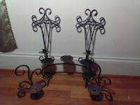 two black metal candle holders Lincolnton, 28092