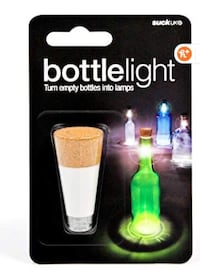 Set of 4 Rechargeable Bottle Light Turn Empty Bottles into Lamps Party