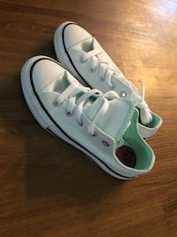 13 1/2 girls teal & white converse Portland, 97229