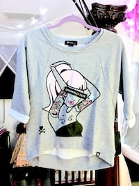 Brand New Tokidoki 3/4 sleeves blouse in gray Crestview, 32536