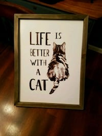 life is better with a cat painting Mattoon, 61938