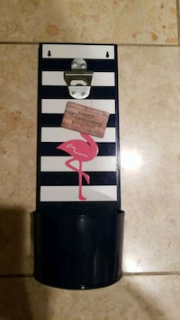 black and white stripe bottle opener