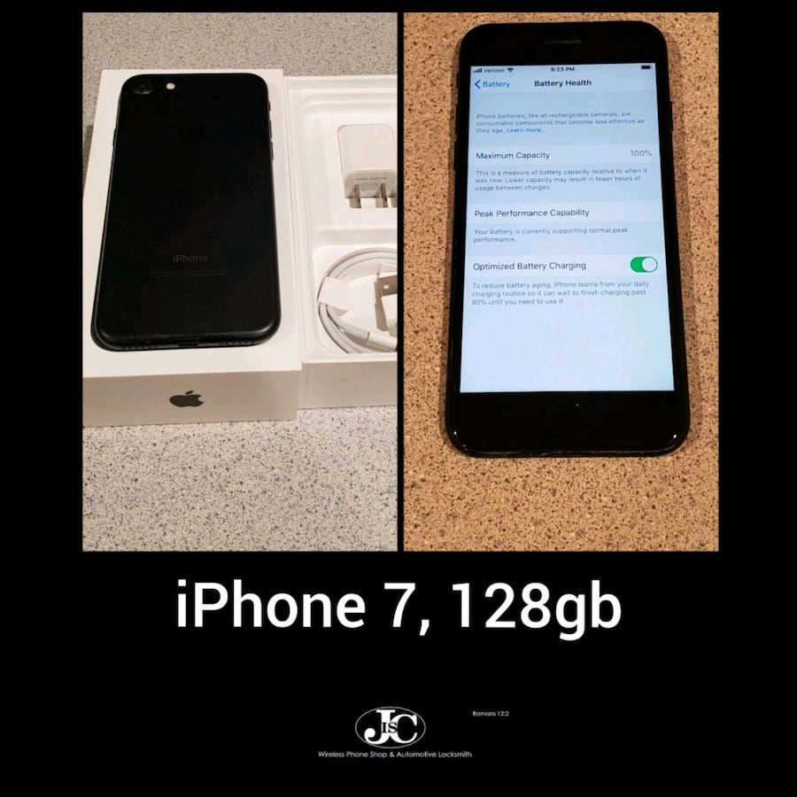 iPhone 7 Matte Black, 128gb! Unlocked For Any Carrier! PRICE IS FIRM!