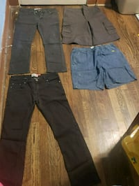 two black and gray cargo pants Houston, 77026