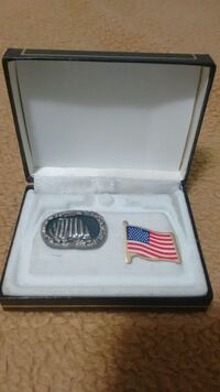 U.S.A. flag brooch and blue accessory with box Edmonton, T6K 3M8