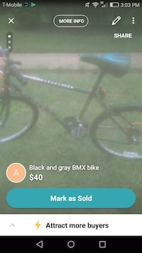 black and gray bicycle screenshot Falls Church, 22041