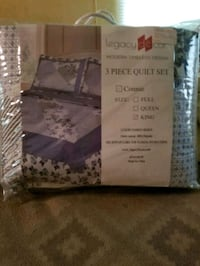 King size Quilt with shams Swansea, 29160