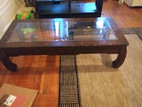 Wood and glass coffee table Brooklyn, 11238