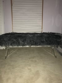 Brand new acrylic fur bench  Reston, 20194