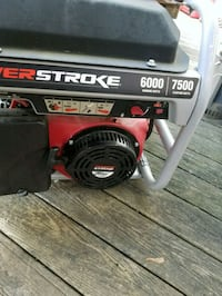 black and red Craftsman portable generator Brunswick, 21716