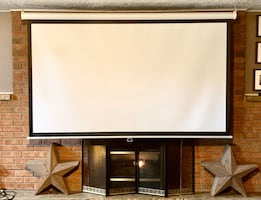 "96"" Diag Home Theatre Projector Screew"