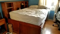 Queen bed frame with storage Huntington Beach, 92647