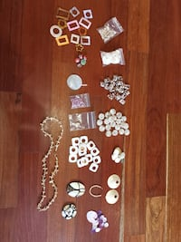 Lot Mother of Pearl Pendants, Beads, Earrings, Necklace