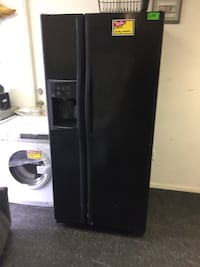 black side-by-side refrigerator with dispenser Pearl, 39208