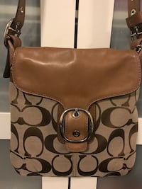 Coach sling/sholder brown bag