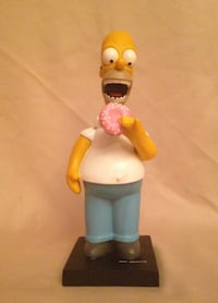 New The Simpsons Homer Eating A Donut Bobble Head Figure Dallas