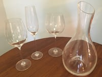 Wine glasses, champagne flutes and wine decanter as a set or per item Washington, 20008