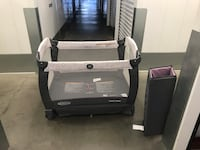 Baby's black and gray graco pack and play Redondo Beach, 90277