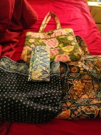 vera bradley purses and 2 trifold wallets