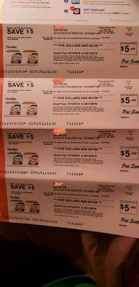 Four $5 similac coupons Chicago, 60611