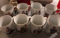 1982 Norman Rockwell mugs set of 8 Crest Hill, 60403