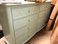 Teal colored dresser.  8 drawers  Alexandria, 22304