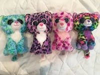A set of 4 small Leopard beanie boos   Mississauga, L4Y 1G4