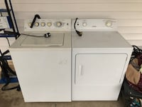 White clothes washer and dryer set 166 mi