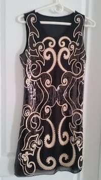 New Black & Gold Sequin Dress Oakville
