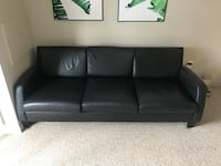 Black leather couch Guelph
