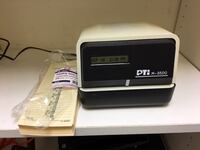 PTI M-3500 Office Time Clock Silver Spring