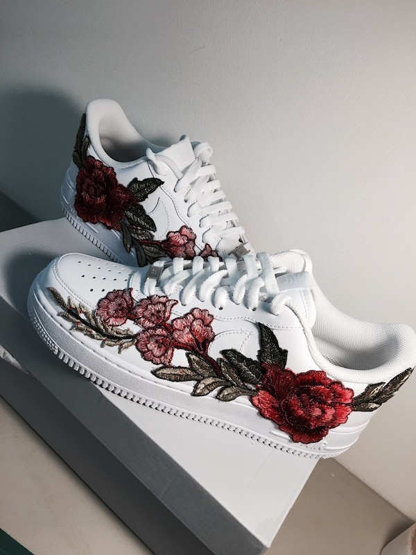 563a5ab9866a Used 9 5-10 NIKE AIR FORCE 1 LOW ROSE CUSTOM for sale in 페어팩스 - letgo