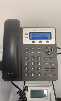 Two Grandstream GXP1625 model VoIP phones for business/home office.