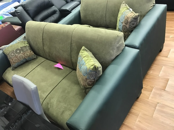 Used Green Fabric Sofa Set For Sale In Garland Letgo