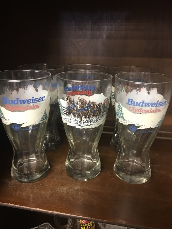 Budweiser glasses