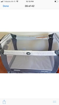 baby's gray and white Graco pack n play Anaheim, 92804