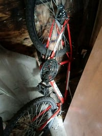 red and white hardtail mountain bike Bloomington, 61701