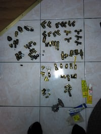 gold-colored lug nut lot