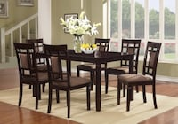 Brand new solid wood table and 6 chairs. Silver Spring, 20902