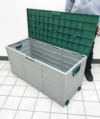 "New $45 each Plastic Storage Box 70 Gallon Outdoor Durable Plastic Shed Waterproof 44""x19""x21"" South El Monte"