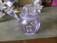 Antique glass dresser jar (Lavender color ) Welland, L3C