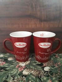 Tim Hortons limited edition ceramic mugs.  Whitby, L1P 1A2