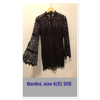black and gray floral long-sleeved dress Calgary, T2Z 4C8